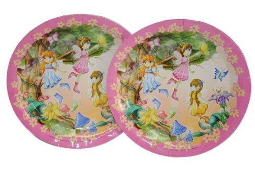 6 tlg. Set Pappteller Fee Elfen Mädchen Teller Essen Kinder Kinderparty Prinzessin rosa pink Elfe