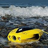 YRX Drone subacuático portátil, Puede sumergirse 15 Metros de Lente 4K HD Profunda con Control Remoto, Puede ser compartido por Varias Personas, exploración submarina, Buceo, Tiro, Pesca, Regalos