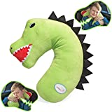 Best Car Pillow For Kids - Tulatoo Dinosaur Travel Pillow - The fiercest Travel Review