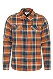 Mountain Warehouse Trace Camicia a Manica Lunga in Flanella Uomo - 100% Cotone, Leggera, Traspirante - Perfetta per Viaggi e Passeggiate Arancione L