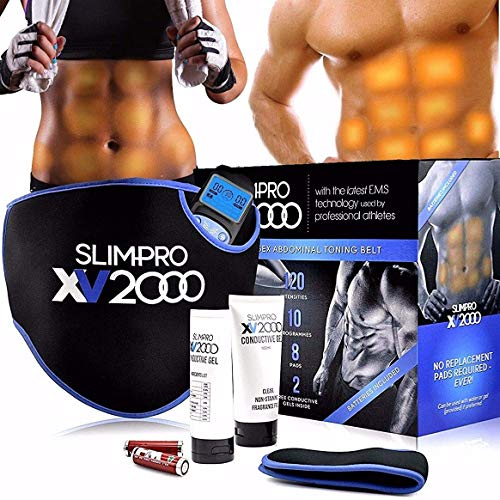 Homefront XV2000 Ab Toning Belt Abs Stimulator, Abdominal Obliques Slender Stomach Belly Muscle...