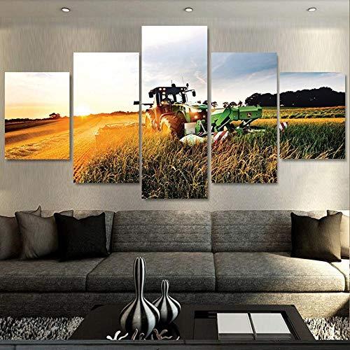 QPOWY Colorato Elefante Africano Pittura ad Olio su Tela Quadri su Tela Immagini per Soggiorno Camera da letto-40x60cm Senza Cornice