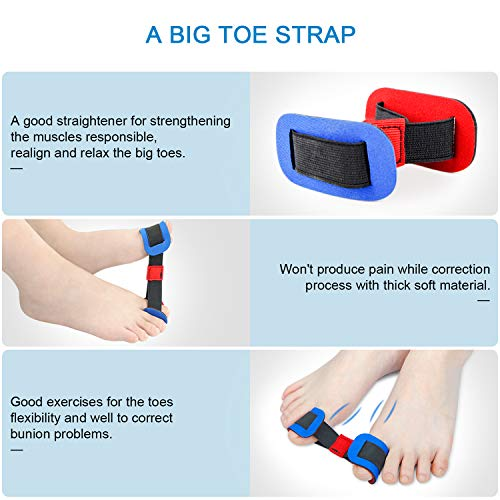 Bunion Corrector & Bunion Relief Protector Sleeves Kit, 9 PCs Big Toe Joint, Hammer Toe, Hallux Valgus, Toe Separators Spacers Straighteners Splint Aid Surgery Treatment