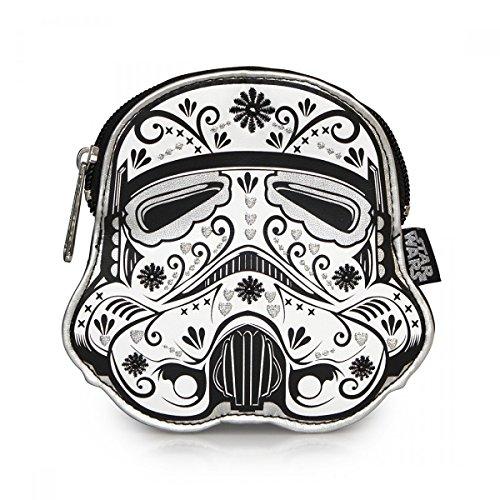 Star Wars Floral Trooper Geldbörse von Loungefly weiß schwarz 14x14cm