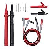 joody 12en 1Test Sondas de Multímetro para multimètres con Pinzas cocodrilo Kit Conector de Prueba con sonda reemplazable Clamp Meter Plomo Test Kit + Pinzas cocodrilo