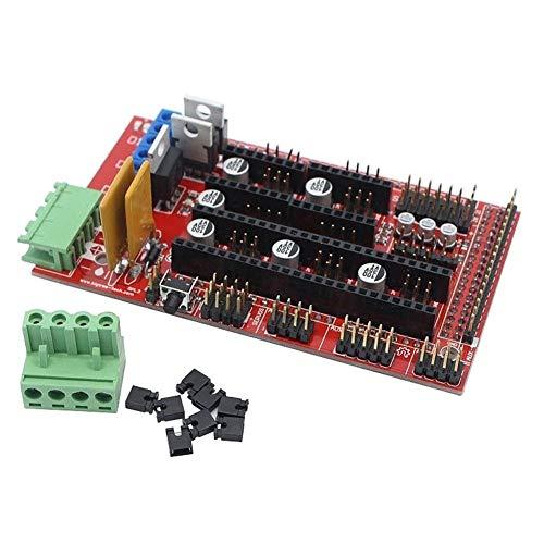 ZRNG Ajuste Para RAMPS 1.4 Panel de Control Panel Parte de la Placa Base Impresoras 3D Piezas Escudo Rojo Negro Controles Ramps1.4 Tablas Accesorios