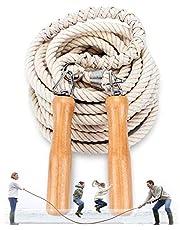 OLT-EU Groepen Touwtjespringen, Multiplayer Touwtjespringen, Beste Team Verspringen met Houten Handvat voor Schoolsport Buitenactiviteiten 5 Meter -7 Meter -10 Meter