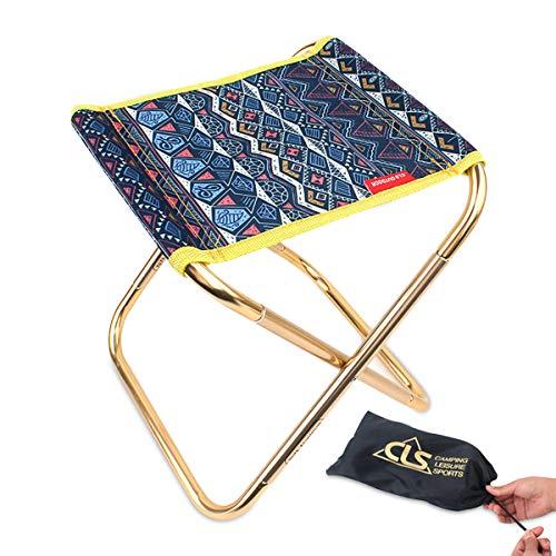 Zeroall Campinghocker Tragbarer Klappbar Klappstuhl im Freien mit Ultraleichte Aluminiumlegierung Klapphocker Camping Hocker Stühle für Camping Angeln Wandern Picknick Reisen(Blau)
