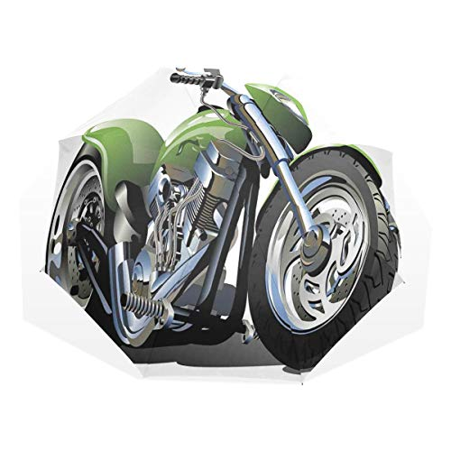 LASINSU Regenschirm,Motorrad Design mit ausgefallenen Supreme Gears und Reifen Action Urban Life,Faltbar Kompakt Sonnenschirm UV Schutz Winddicht Regenschirm
