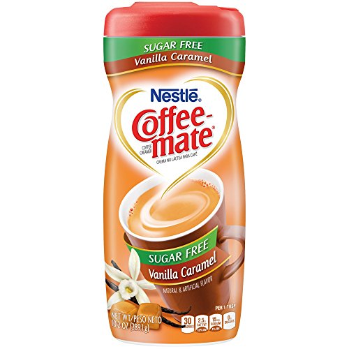 Coffee-Mate, Vanilla Caramel, Sugar Free Powder Creamer, 10.2oz Canister (Pack of 2) by Coffee-mate