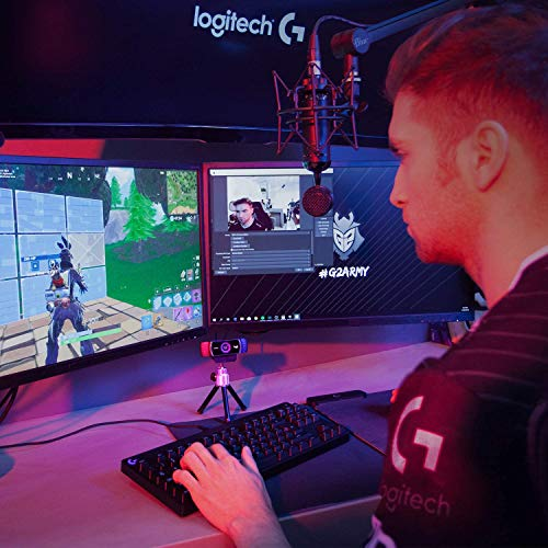 Logitech HD C922 Pro Stream Webcam, 1080p Kamera Streaming Webcam, nimmt Streams Ihre Gaming-Sessions in Rich HD Streaming auf, Hintergrund-Ersatzstativ enthalten