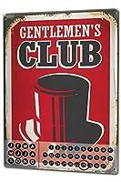 カレンダー Perpetual Calendar Sayings gentelmens club Tin Metal Magnetic