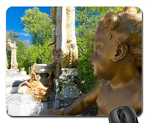 Mouse Pad - Angel Statue Palace Garden Architecture Madrid