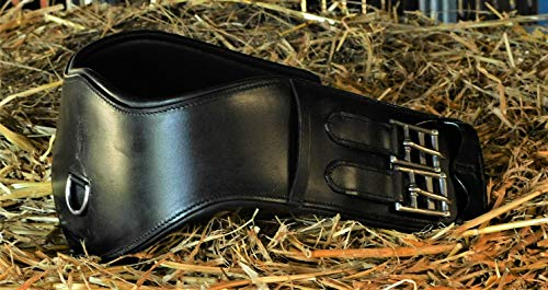 Leder Sattelgurt Soft Mondgurt ergonomisch Kurzgurt Ledersattelgurt 45 55 65 cm Tysons (65 cm)