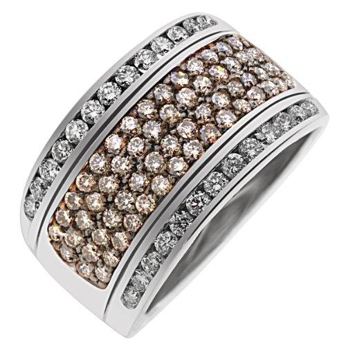 Goldmaid Damen-Ring Darkshine Weiß Gold 375 58 champagner Diamanten 26 Diamanten SI/H 1,30 ct. Gr. 58 Pa R3259WG37558 Brillanten Diamantring Verlobung