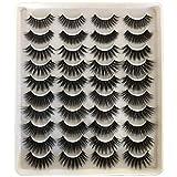 GMAGICTOBO False Eyelashes Faux Mink Lashes 20 Pairs Pack, 10 Styles 5D Dramatic Long Fluffy Volume Soft Wispy Fake Eyelashes Multipack