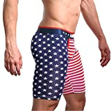 MISWSU Men's American Flag Compression Shorts Running Workout Gym Summer Tight Shorts(Stripe-Star,XL)