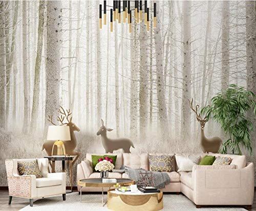 TapeteFototapete 3D Effekt Fantasie Waldelch Dschungelgras 3D Tapeten Vliestapete Wanddeko Wandbilder Wohnzimmer Schlafzimmer XXL 350cmX256cm