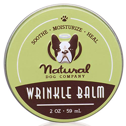 Natural Dog Company Wrinkle Balm, Cleans and Protects Dog Wrinkles and Skin Folds, Perfect for Bulldogs, All Natural, Organic Ingredients, 2oz Tin, Packaging May Vary