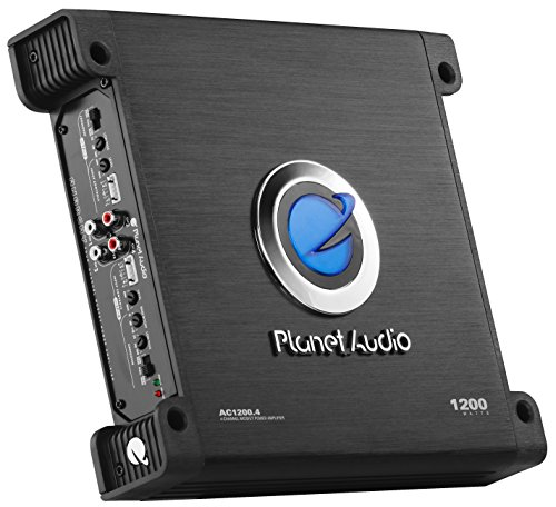 Planet Audio AC1200.4 4 Channel Car Amplifier - 1200 Watts, Full Range, Class A/B, 2-4 Ohm Stable, Mosfet Power Supply, Bridgeable