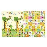belupai Alfombra de juego suave para bebés y niños, espuma de gimnasio, tamaño grande, tapete de juego para piso, alfombra de gateo, 6 unidades (jirafa 1,5 cm)