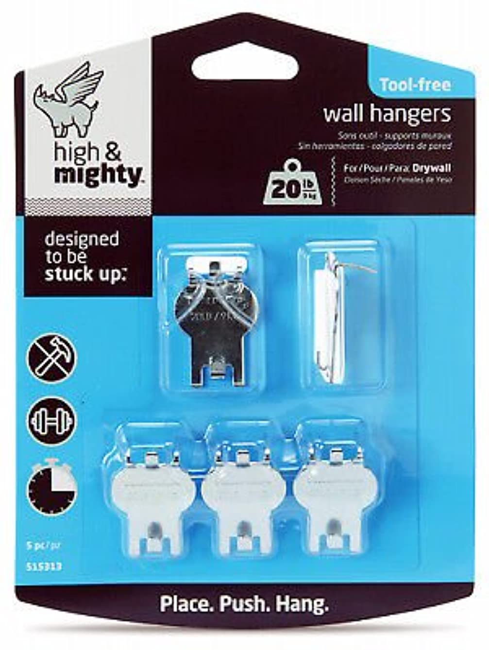 Hillman Fasteners 515313 5-Pc. Picture Hanging Kit, Holds 20-Lbs. - 2 Packs
