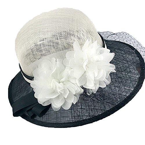XY-women's hat Elegant Herbst und Winter Netto Gaze Kappe Sonnenschirm Dame Flachs Hut Stilvoll