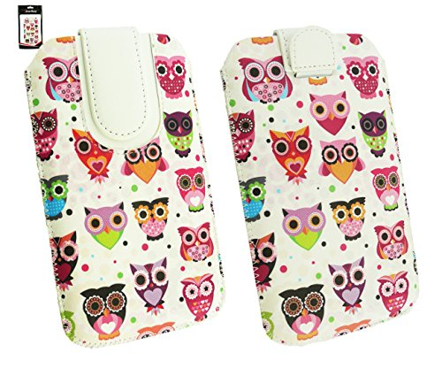 Emartbuy® Gionee S5.1 Pro Smartphone Multi farbig Eules Print Premium PU Tasche Hülle Schutzhülle Hülle Cover Cover Holder (Size 4XL) Mit Ausziehhilfe