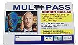 Fifth Element Corbin Dallas Multipass Badge