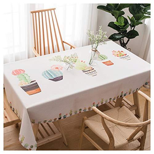 Cactus tafelkleed, waterafstotend, van katoen en linnen, klein, voor thuis
