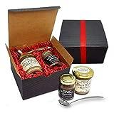 Trader Joe's Trio Gift Set - Truffle Powder Seasoning and Italian Mushroom & Black Truffle sauce with One Mini Ladle Spoon (Set of 3)