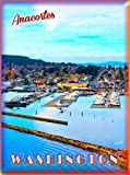 TYmall Metal Sign Wall Plaque 8X12 Inch Anacortes Washington State Scenic Travel Advertisement Art Retro Metal Poster Signs Decor House Home Tin Signs