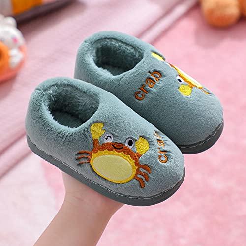 Zapatillas De Casa para Mujer Baratas,Zapatillas De AlgodóN para NiñOs, Zapatillas De TacóN con Bolsa De Bebé para NiñAs Y NiñOs, Zapatillas De Felpa Gruesas para El Hogar De Dibujos Animados para Ni