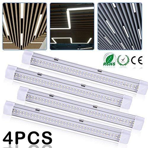 Tube réglettes,Intérieur lumières72 LEDs lampe 12V-24V LED Barre d'éclairage lampevoiture lumières Barre de Strip lampe universel d'éclairage Interrupteur on/off (4pcs)