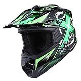1Storm Adult Motocross Helmet BMX MX ATV Dirt Bike Helmet Racing Style HF801; Sonic Blue