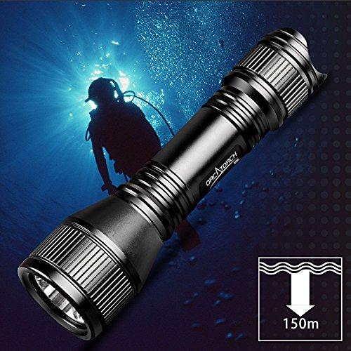 ORCATORCH Linterna de Buceo con interruptor magnético – Mejor para actividades en profundidad subacuáticas
