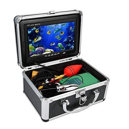 Tangxi Fish Finder, 7 Pollici TFT 1000TVL 164ft Videocamera Subacquea con Visione Notturna a Infrarossi con Cavo da 50 m, Telecamera da Pesca Impermeabile IP68 per Ghiaccio/Pesca/Immersione(EU)