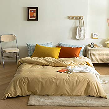 3-Piece Mixinni Long-Staple Cotton King Duvet Cover with 2 Pillowcases