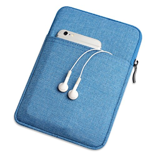 QIUQIU Nylon Cover Pouch Bag Sleeve for Amazon Kindle Paperwhite/Voyage/All-New Kindle(8th Generation, 2016)/Kindle Oasis E-Reader (Denim Blue)