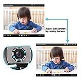 Fionana ウェブカメラ フルHD 720P、ミニウェブカメラ、マイク付きライブストリーミングウェブカメラ、PCラップトップデスクトップコンピュータUSB ウェブカメラ(ビデオ通話、録画、会議、ストリーミング、ゲーム用) present