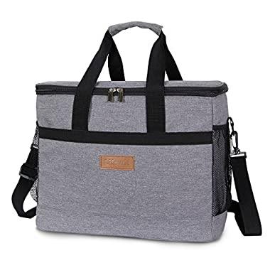 Lifewit 30L (50-Can) Soft Cooler Bag, Insulated Travel Bag, Soft-Sided Cooling Bag for Beach/Picnic/Camping/BBQ, Grey