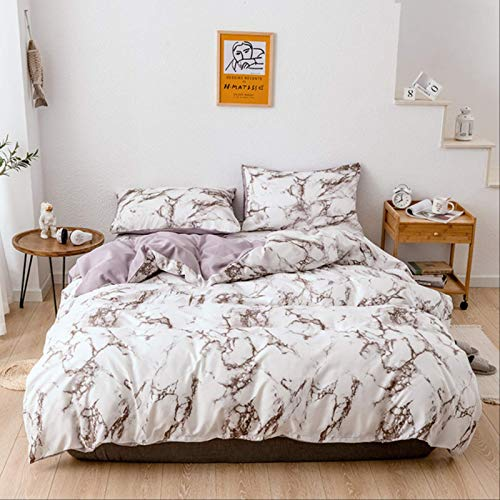 Youngnee 2/3pcs Bedding Set Printed Marble Bed Sets White Black Duvet Cover European Size King Queen Quilt Cover Comforter Cover