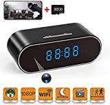 Hidden Camera - Spy Camera, WiFi Wireless Remote Viewing, Motion Detection 1080P HD Nanny Camera with 32GB SD Card, Support iOS/Android