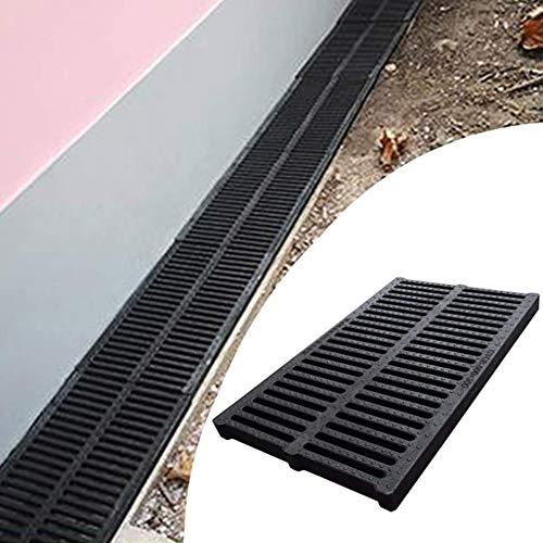 Canaletta Canalina di scolo raccogli Canale di drenaggio, scarico del pavimento, anti-intasamento antiscivolo impermeabile può sopportare uno scarico da 50 kg da giardino, 9 dimensioni acqua piovana I