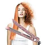 Lisseur De Cheveux Pour Le Redressage De Cheveux, Fer Plat Pierre Gemme En Titane De La Température Redresseur De Cheveux Réglable, Affichage Numérique Lcd
