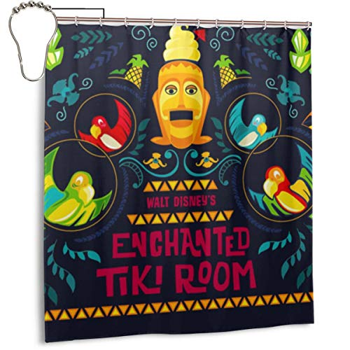 Enchanted Tiki Room Shower Curtain Set with 12 Hooks...