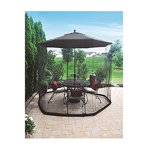 DSHUJC Couverture de Moustique de Jardin extérieur, écran de Table de Patio de Moustique de Parapluie, approprié aux gazebos pour Le Parasol oa Gazebo