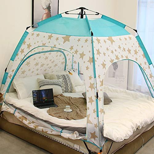 YXZN 4-Zimmer-Innenbettzelt, Sichtschutzzelt auf dem Bett für warmes und...