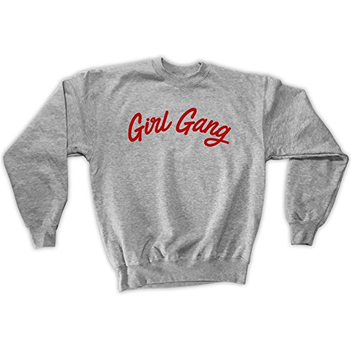 Outsider. Herren Unisex Girl Gang Sweatshirt - Grau - Large