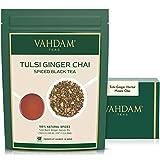 Tulsi Ginger Masala Chai, 200g (100 tazze)   STRESS RELIEVING & REFRESHING TEA - Deliziosa miscela di tè allo zenzero e al tulsi   Ginger Tea   Tulsi Tea   Dall'India